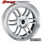 STEALTH Racing COMMANDER 01 走りのシルバー色 軽四用新品ホイール+タイヤ4本Set KENDA 165/50R16 タイヤ付き
