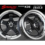 STEALTH Racing K36 軽四用新品ホイール+タイヤ4本SetHankookタイヤ付