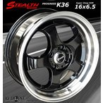 STEALTH Racing K36 コンパクトカーに最適な6.5J ディープリム仕様/新品ホイール4本Set