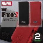 iPhone 7 用 マーベル 手帳型ケース インサイド スパイダ―マン / ブラック