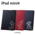 iPad mini4 ケース ディズニー ホットスタンプ ブックレザーケース カバー アイパッド