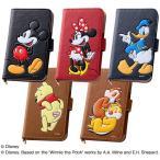 ディズニー 携帯ケース 手帳型 ポップアップ スマートフォン 汎用 レザーケース Mサイズ (合皮) ミッキー disney_y