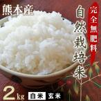 完全無肥料 自然栽培米 28年産 ヒノヒカリ /2kg/農薬化学肥料不使用/放射能不検出/白米・玄米 選べます