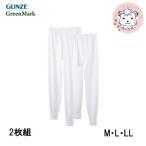 長ズボン下 メンズ グンゼ GUNZE GreenMark グリーンマーク 紳士 すててこ ステテコ 前開き 2枚組 M L LL