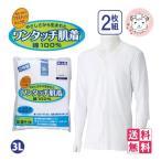 (送料無料)ワンタッチ肌着  紳士用 7分袖 プラスチックホック式 前開きシャツ 2枚組×3セット 3L