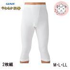 半ズボン下 2枚組 グンゼ GUNZE メンズ やわらか肌着 ステテコ 前あき ズボン下 インナーシャツ M L LL