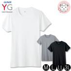 半袖 クルーネックTシャツ グンゼ GUNZE YG ワイジー メンズ COTTON コットン100%シリーズ 丸首 Tシャツ M L LL 3L