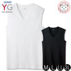 スリーブレスシャツ  グンゼ GUNZE YG ワイジー メンズ COTTON コットン100%シリーズ ノースリーブ M L LL 3L