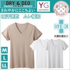 VネックTシャツ メンズ グンゼ GUNZE YG ワイジー DRY&DEOシリーズ 半袖 V首Tシャツ M L LL