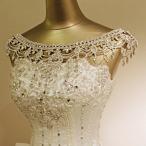 Yahoo!whomwhom【レビュー記載で送料無料】 ショルダーネックレス 結婚式 ウエディングドレス アクセサリー ブライダル