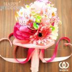 ウエディングブーケトス専用 お菓子の花束キャンディブーケ・ピンク