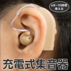 充電式 集音器 耳かけ 耳あな式 イヤホン