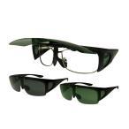 サングラス 偏光オーバーサングラス 跳ね上げオーバーサングラス アウトドア 釣り 旅行 ブラック ロゴス LOGOS UVカット 99%