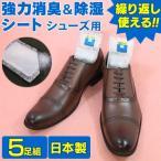 靴の消臭剤 シューズ用5足組 繰り返し使える 強力消臭&除湿シート 旭化成セミアS-3