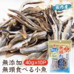 無添加 無頭食べる小魚 40g×10P  無頭 無添加 添加物不使用 にぼし 減塩 おやつ 煮干し ニボシ 煮干 国内産 国産 日本製 かたくちいわし