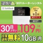 wifi レンタル 国内 30日 10GB ポケットwifi レンタル wifi ルーター wi-fi モバイルwifi 一時帰国 Softbank ワイファイ 1ヶ月 中継機 往復送料無料