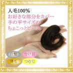 ウィッグ ヘアピース  人毛100% 円形脱毛症 部分ウィッグ かつら 送料無料 増毛 tk-9