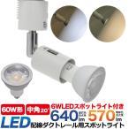 配線ダクトレール用 スポットライト LED電球セット 490lm中角タイプ