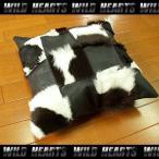 ハラコクッションカバー レザー ハラコ ブラウン ミッドセンチュリー系インテリア WILD HEARTS Leather&Silver (ID coc07b20)