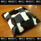 ハラコクッションカバー レザー ハラコ ブラウン ミッドセンチュリー系インテリア WILD HEARTS Leather&Silver (ID coc08b20)