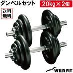 ダンベルセット 40kg アイアン / 筋トレ ベンチプレス