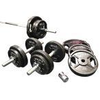 バーベルダンベルセット 70kg 黒ラバー / バーベルスクワット ダンベル 筋トレ トレーニング器具 ベンチプレス