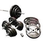 バーベルダンベルセット 140kg 黒ラバー/ バーベルス