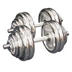 ダンベルセット 60kg クローム / 筋トレ ベンチプレス バーベル トレーニング器具 腹筋 フラットベンチ ダンベル