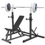 《パッドかプロテインプレゼント中》トレーニングセットB 白ラバー105kg / 筋トレ ベンチプレス ダンベル バーベル