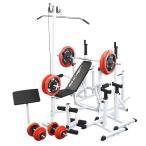 マルチフルセット 赤ラバー140kg/一部後送り商品あり / 筋トレ トレーニング器具 ダンベル バーベル ベンチプレス ホームジム
