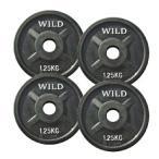 黒ラバー プレート 1.25kg (4枚) 《返品・交換不可》 / WILD FIT (ワイルドフィット)