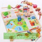 知育玩具 ひも通し 木製パズル 2歳 3歳 4歳 子供 誕生
