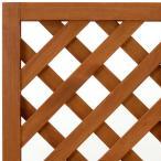 ショッピングラティス ラティスフェンス匠 ノーマル ななめ格子 チーク色 木製 高さ+横幅=合計270cm以内