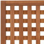 特注ラティスフェンス匠 目隠し 縦横格子 チーク色 木製 高さ+横幅=合計180cm以内 日本製