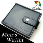 ゴルフの殿堂Arnold Palmer アーノルドパーマー メンズ 二つ折財布 ベロ付き ブラック 4ap2962-bk