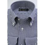 (ウィンザーノット アルバートアベニュー) Windsorknot Albert Avenue ボタンダウンシャツ 日本製 綿100% オックス ネイビーのギンガムチェック 100双