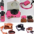ショッピングCanon Canon PowerShot SX720 HS カメラケース ケース キャノン パワーショット カバー カメラカバー カメラバッグ バッグ レザーケース 一眼 デジカメ 合成革