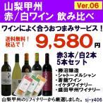 日本ワイン ランキング 国産ワイン 山梨甲州 辛口 赤 白ワイン 5本セット Ver.6  おつまみ1品サービス