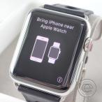 HERMESエルメス Apple Watch Herm〓s Series3 スマートウォッチ 42mm シンプルトゥール ラリーレザーストラップ 腕時計 ブラック
