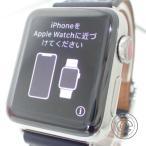 HERMESエルメス Apple Watch Herm〓s Series3 スマートウォッチ 38mm A刻印 エプロン・ドール プリントストラップ 腕時計