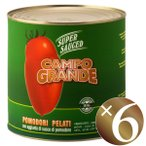 ポモドーリ ペラーティ〈ホールトマト〉/カンポグランデ 2500g×6個入(※同梱不可)