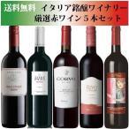 ショッピングセット セール 送料無料 イタリア銘醸ワイナリー 厳選赤ワイン5本セット