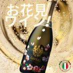 ガヴィオリ スプマンテ・エクストラドライ・フラワーボトル やや辛口・イタリア白スパークリングワイン