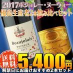 (送料無料)ボジョレヌーヴォー2017優良生産者2本飲み比べセット(赤ワイン ブルゴーニュ)
