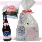 ワインとバラのプチギフト ブルーベリーフィズ 200ml&バラのタオルチーフ