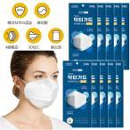 レンスグローバル プレミアム 高級マスク KF94マスク 10枚入 3D立体 大人用 ホワイト 立体構造 個別包装 韓国製