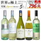 ショッピング白 うきうき厳選 世界の白ワインが味わえる 極上辛口白ワイン スペシャル飲み比べ5本セット (送料無料ワインセット)