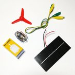 1V 750ma & マブチモーター& プロペラセット+ワニ口クリップ(安定回転重視)