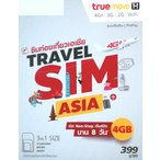 TRUE MOVE ASIA 韓国 プリペイドSIM 8日間 4G・3Gデータ通信通信無制限