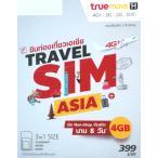 TRUE MOVE ASIA 台湾 プリペイドSIM 8日間 4G・3Gデータ通信通信無制限